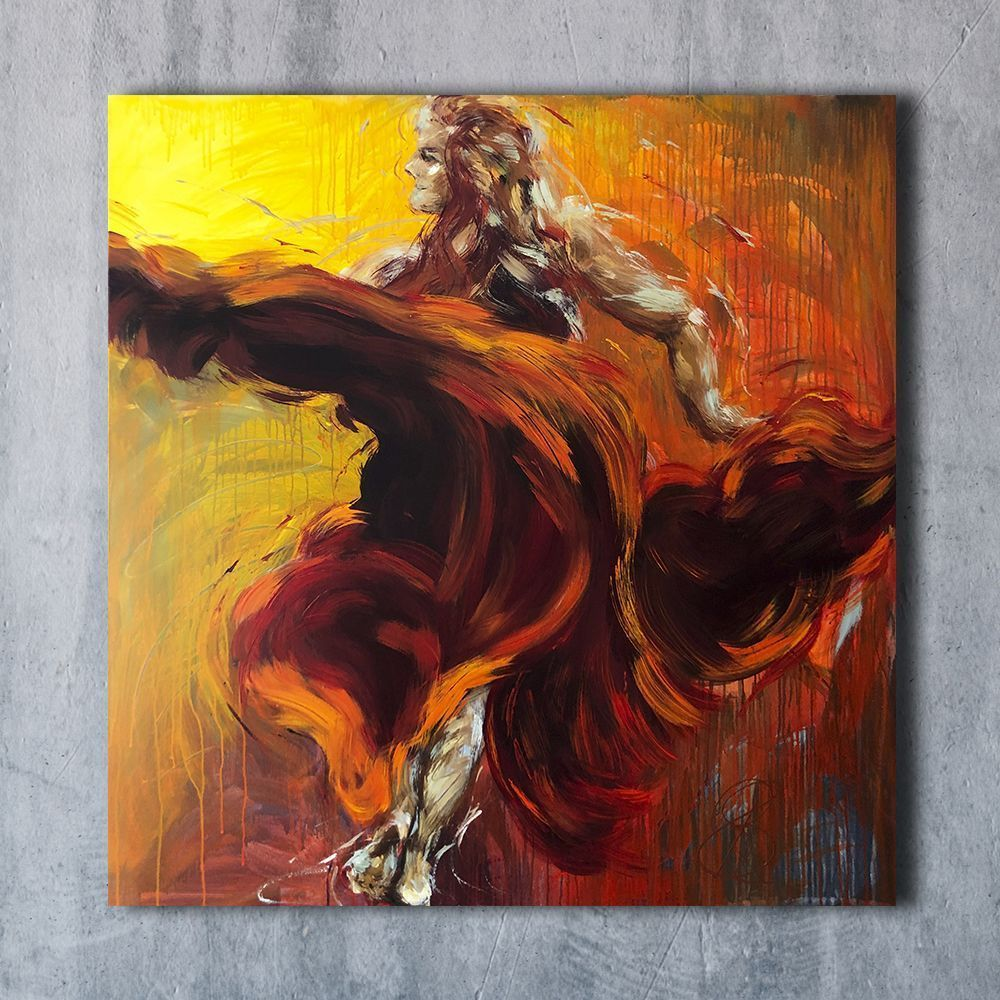 Sun Dancer original painting - ArtByBettina - Fuengirola, Spain