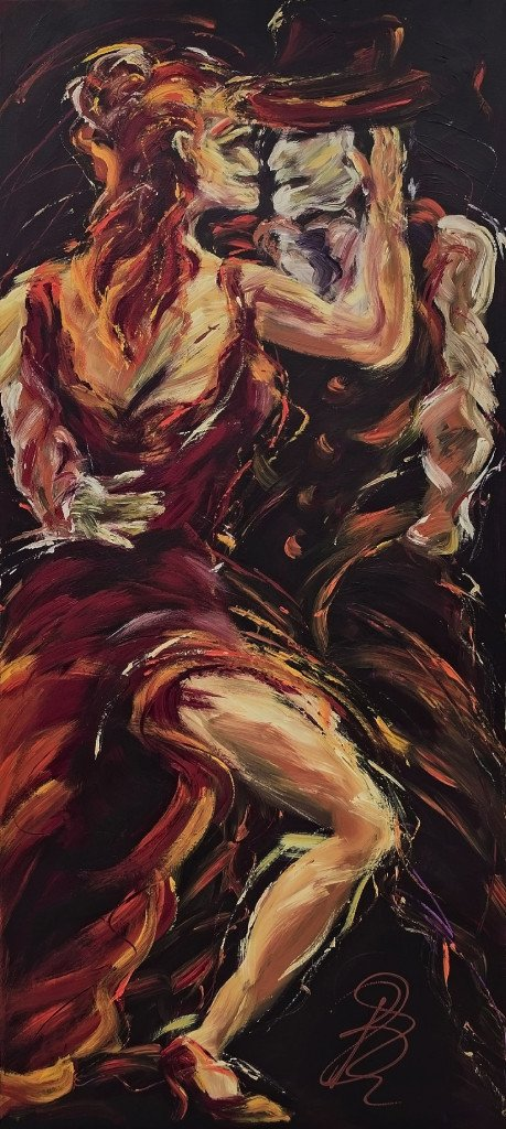 Original Painting The Erotic Buenos Aires Lies In Your Passion For My Tango II