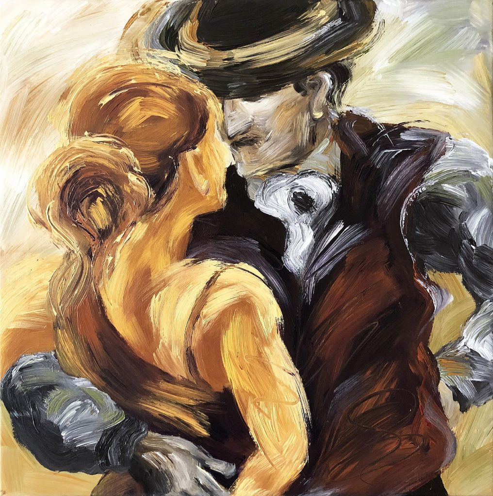 Original Painting When We Dance A Tango