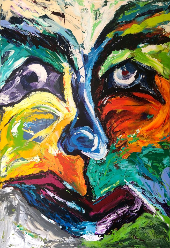 Original Painting The Mask 3