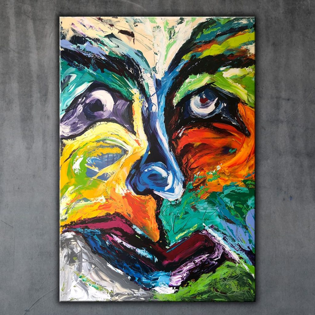 The Mask 3 - Original painting - ArtByBettina Fuengirola Spain